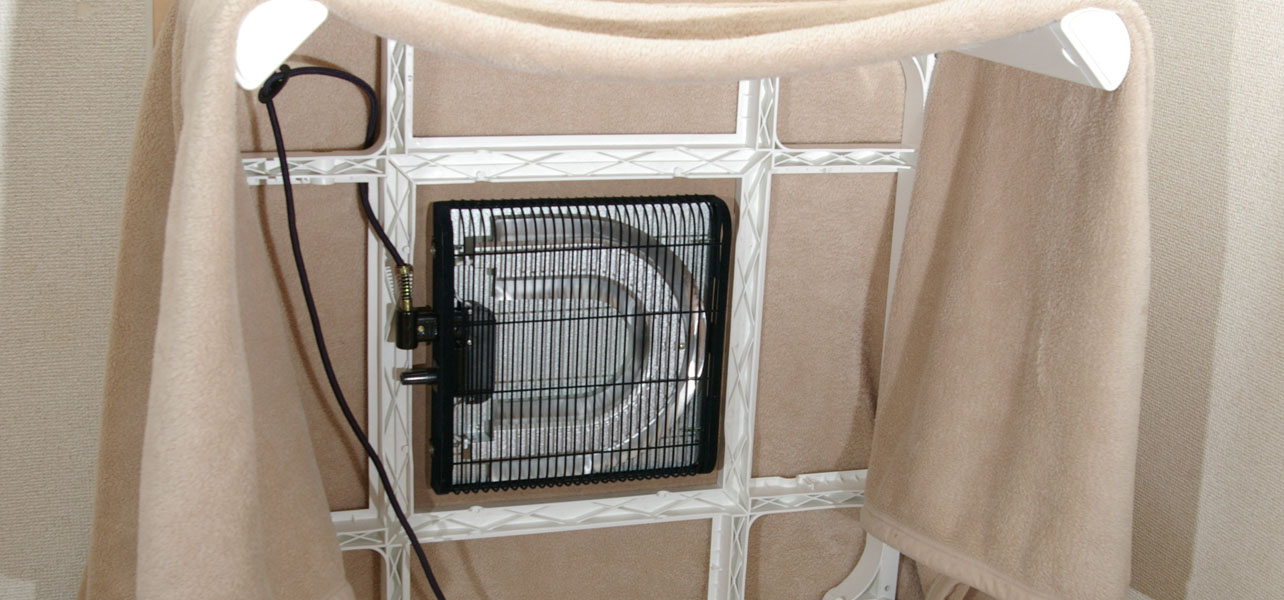 The Kotatsu Frame, heater and blanket