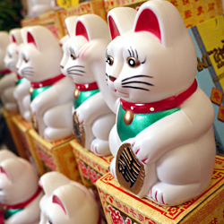 Maneki Neko, the Beckoning Cat