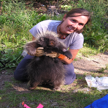 Sara with her Porcupine