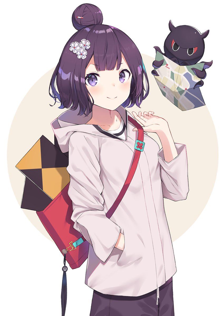 Casual anime girl