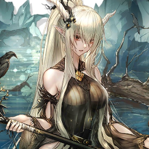 Swamp forest anime girl
