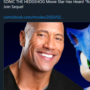 The Rock in sonic sequel...