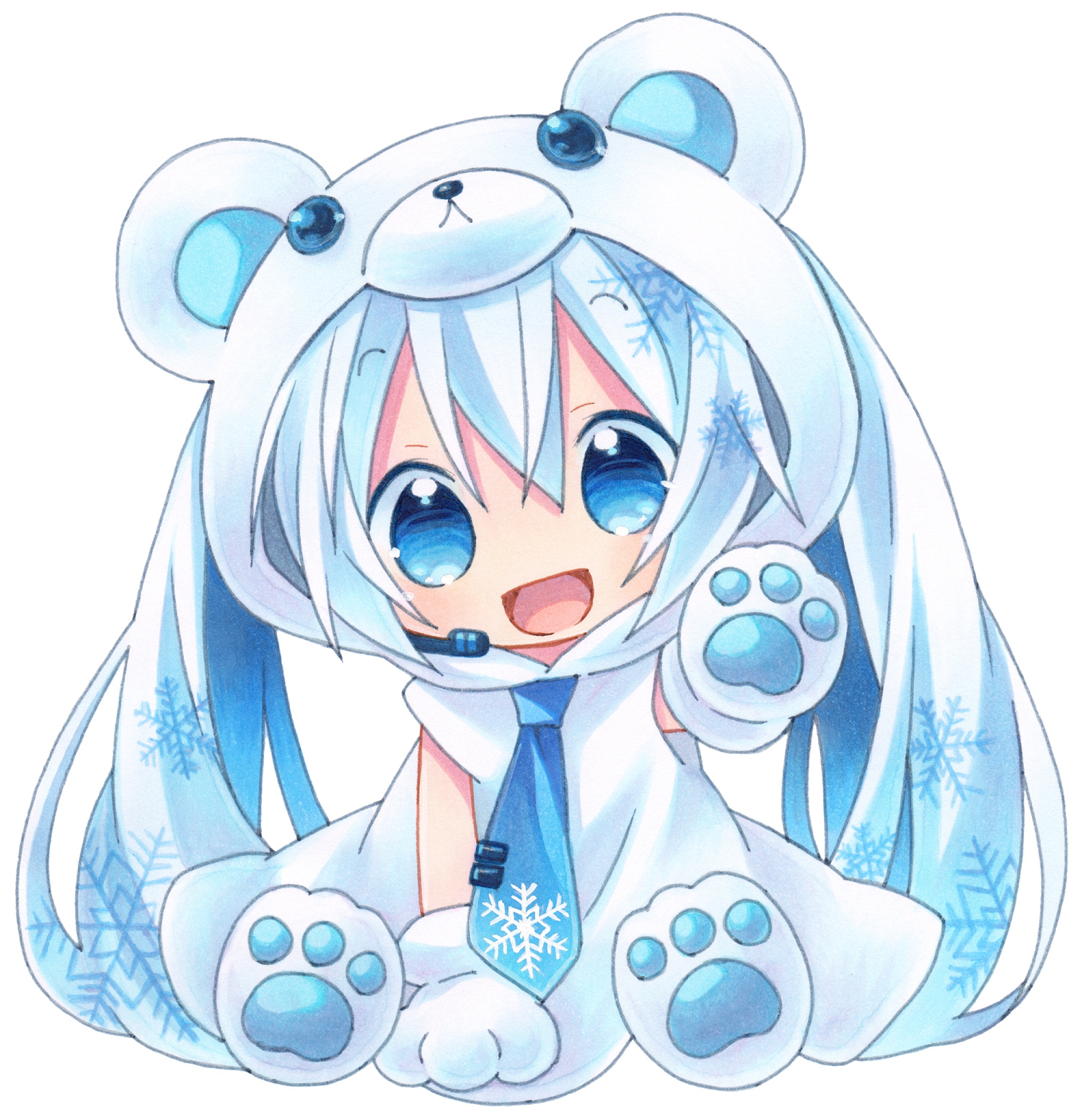 Teddy Miku is cute too