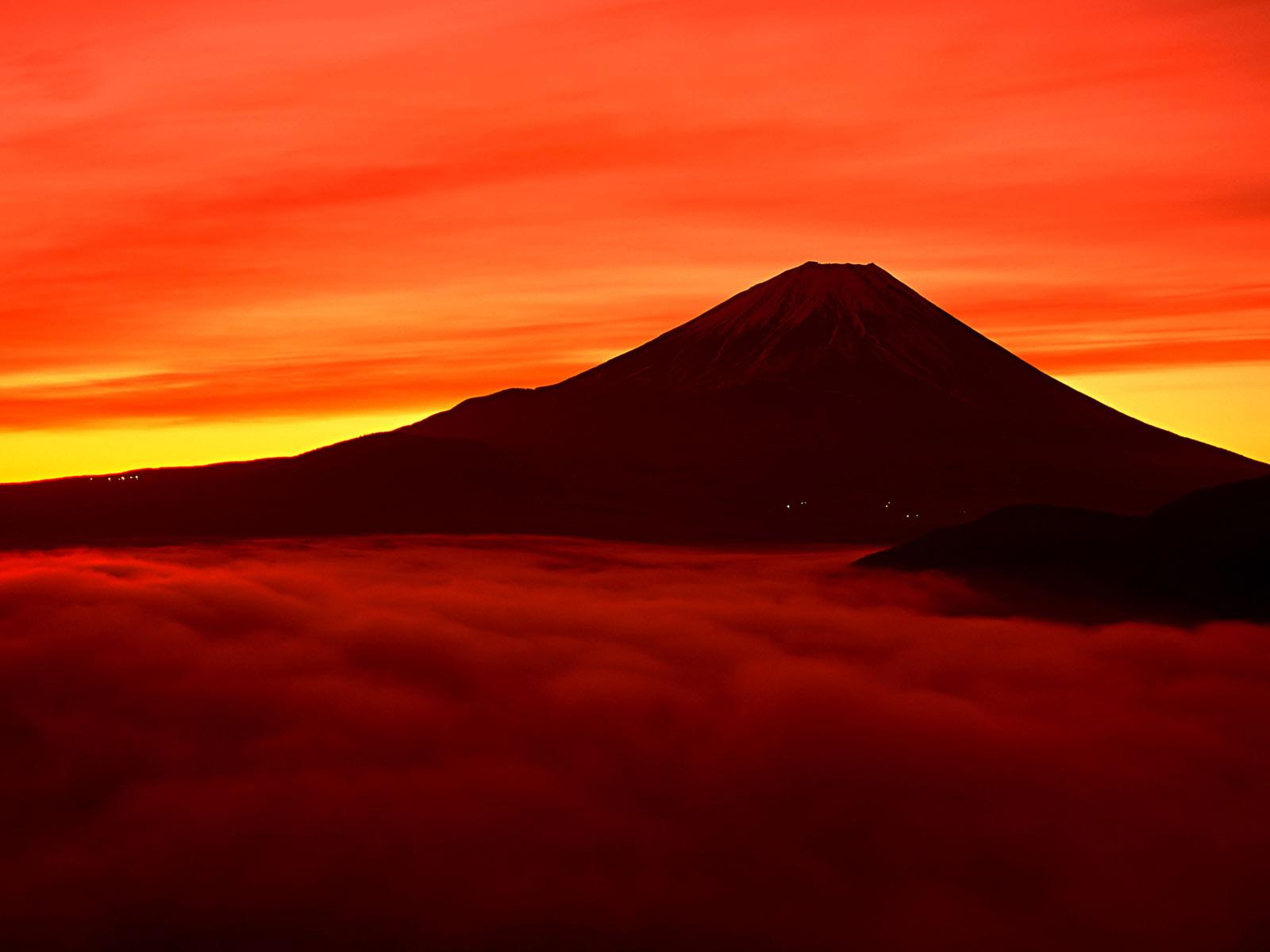 Mount Fuji In Evening 1600 1200 Mountain Wallpaper 1600x1200